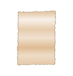 Vintage empty paper isolated on white background vector
