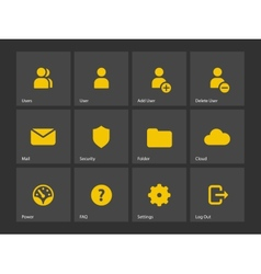 User account icons vector