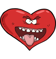 Heart with an open mouth vector