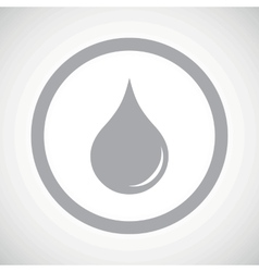 Grey water drop sign icon vector