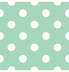 Seamless mint pattern with white polka dots vector