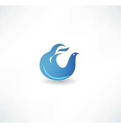 Blue bird icon vector