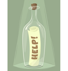 Bottle of help vector