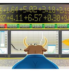 Bull market vector