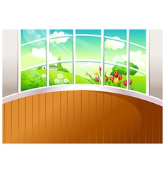 Home landscape view vector