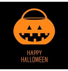 Trick or treat halloween pumpkin bucket vector