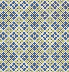 Retro geometric seamless pattern in blue and grey vector