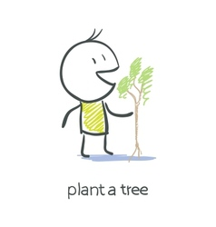 Man and tree vector