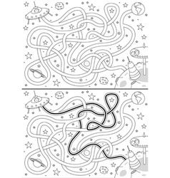 Alien space maze vector