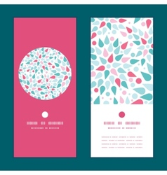 Abstract colorful drops vertical round vector