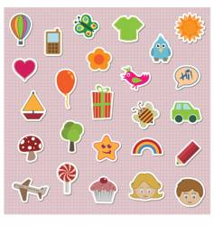 Childrens stickers vector