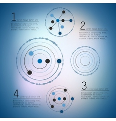 Abstract network with circles eps10 vector
