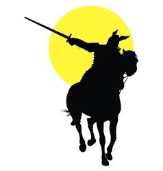 Viking horseman vector