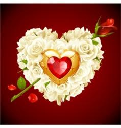 White roses vector