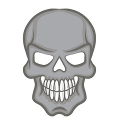 Halloween cartoon scull isolated on white vector