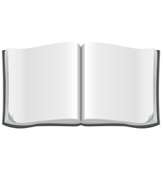 Open magazine with a clean blank sheet vector