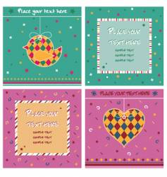Note cards vector