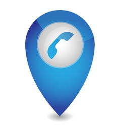 Map pointer with phone vector