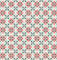 Retro geometric seamless pattern in pink and grey vector