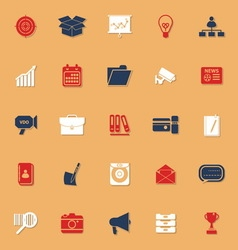 Data and information classic color icons with vector