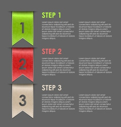 Bookmarks progress steps for tutorial vector