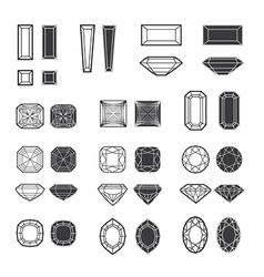 New diamonds set 02 vector