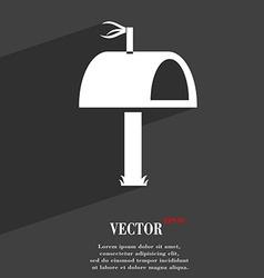 Mailbox icon symbol flat modern web design with vector