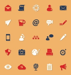 Message and email classic color icons with shadow vector