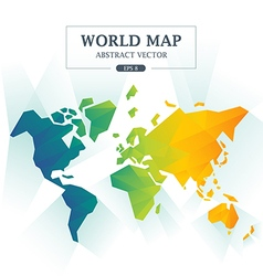 World map abstract full color vector