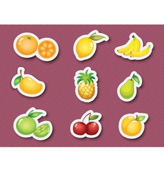 Sticker series of fruits vector
