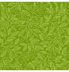 Seamless pattern of stylized leaves vector