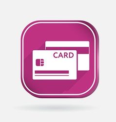Credit card color square icon vector