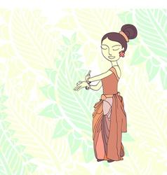 Thai traditional dancer vector