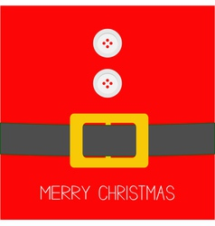 Santa claus coat with buttons and belt christmas vector