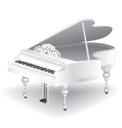 White grand piano vector