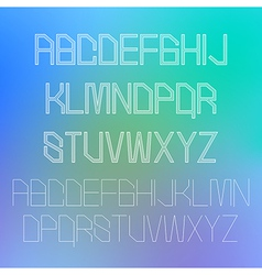 Thin alphabet design eps10 vector