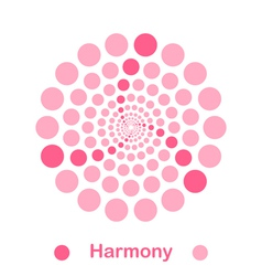 Imple harmony spiral logo conception vector