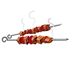 Grilled meat vector