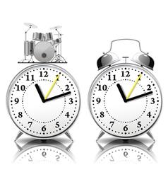 Alarm clock set in a retro style vector