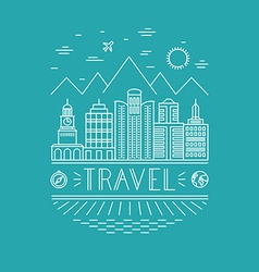 Travel poster design template vector