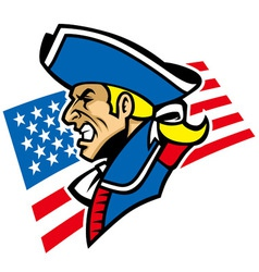 Patriot mascot vector