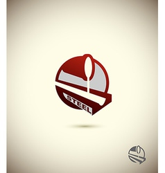 Logo steel industry concept design for the factory vector