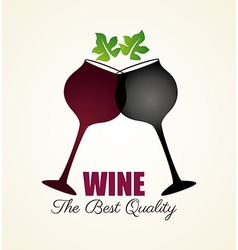 Wine design over white background vector