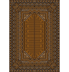 Design of the old carpet in brown and orange color vector