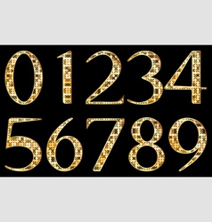 Abstract yellow numbers vector