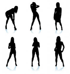 Sexy woman silhouette vector