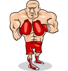 Boxer sportsman cartoon vector