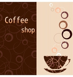 Template for a tea coffee chocolate menu vector