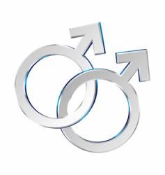Male and male symbols union vector