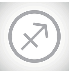 Grey sagittarius sign icon vector